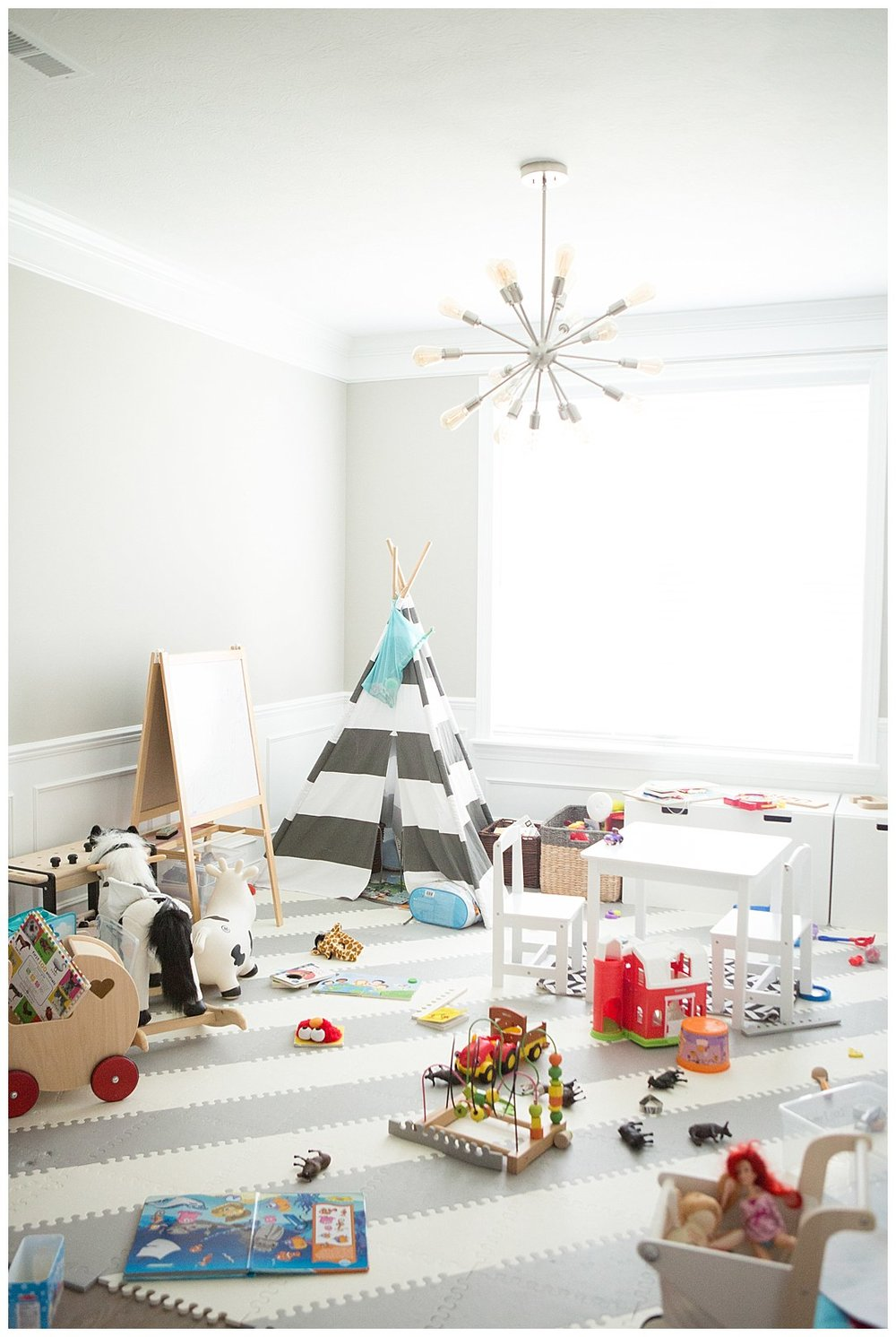 Have to end with our playroom - which is currently occupying our Formal Dining Room - in it's natural state ;)