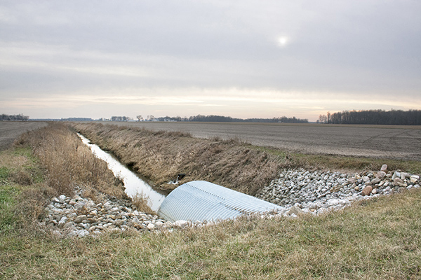 "Drain Pipe, Rural Indiana 2015 Inkjet Print 12"" x 18"""