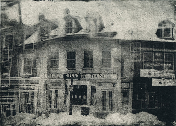 "Left Bank Dance 2013 Photopolymer Intaglio Print on Paper 5"" x 7"""