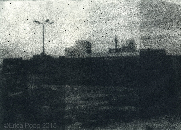 "Urban Landscapes  Original limited edition intaglio prints from Erica Popp's ""Urban Landscapes"" series."