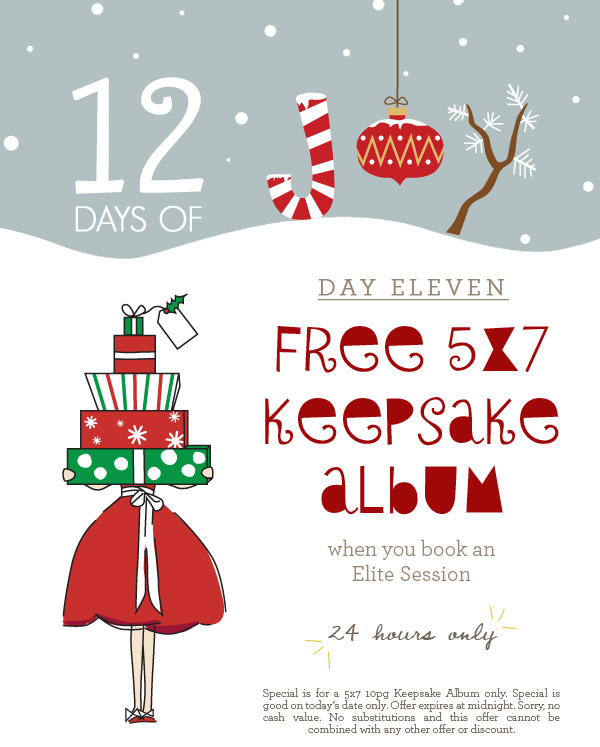 12 Days of Joy - Day 11 - Free 5x7 Keepsake Album