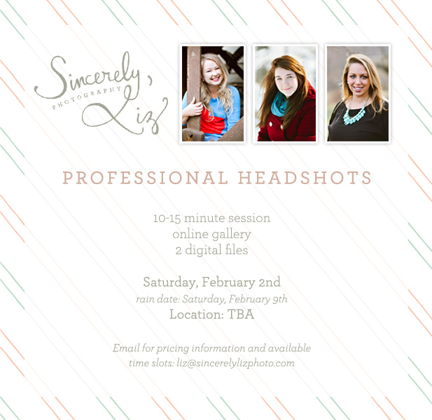 Professional Head Shots mini sessions