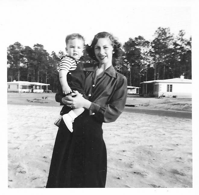 Baby & my dad, 1950