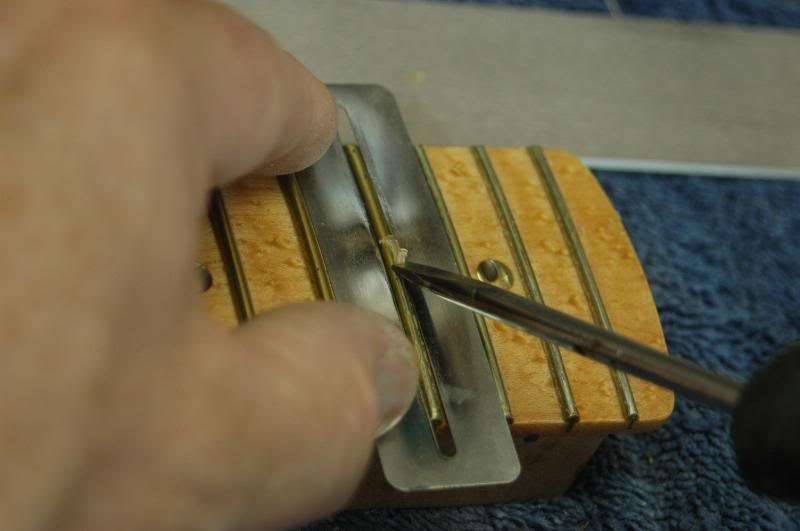 I use the fingerboard protector to prevent the inevitable slip.