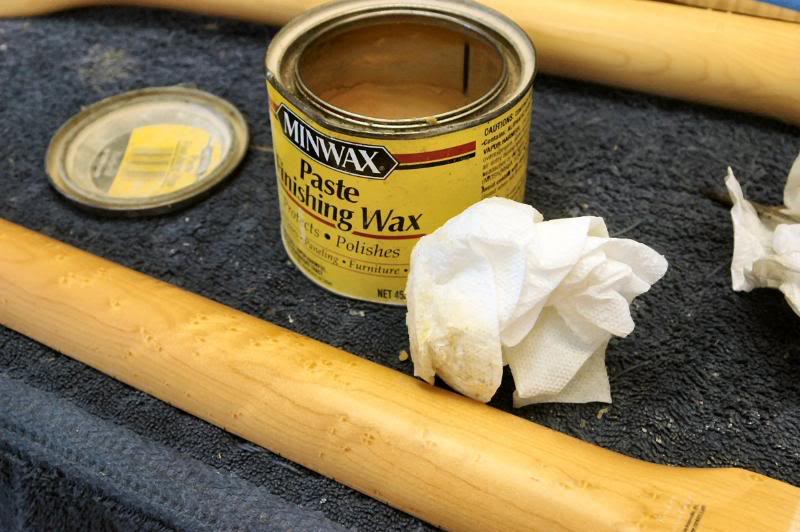 Then I give it a good coat of a quality carnauba based wax. The neck, will now have an organic feel, almost like it's alive. Remember the skin on Betty Lou, the cheerleader when you played High School Football. That's the sensation ya get.