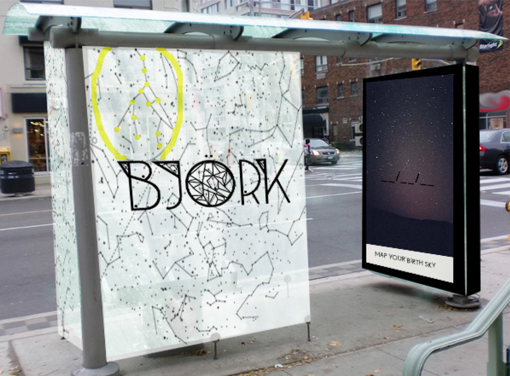 Celestial Map Interactive Bus Shelter