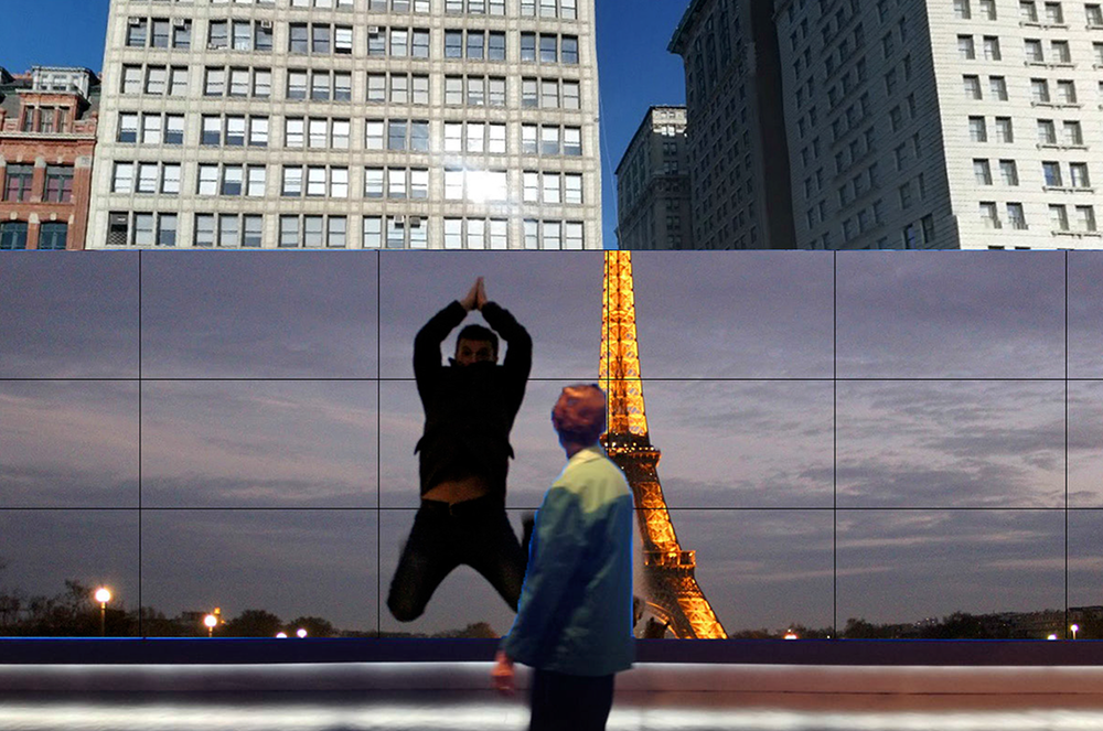 Mini - Two Cities at Once Video Wall Installation