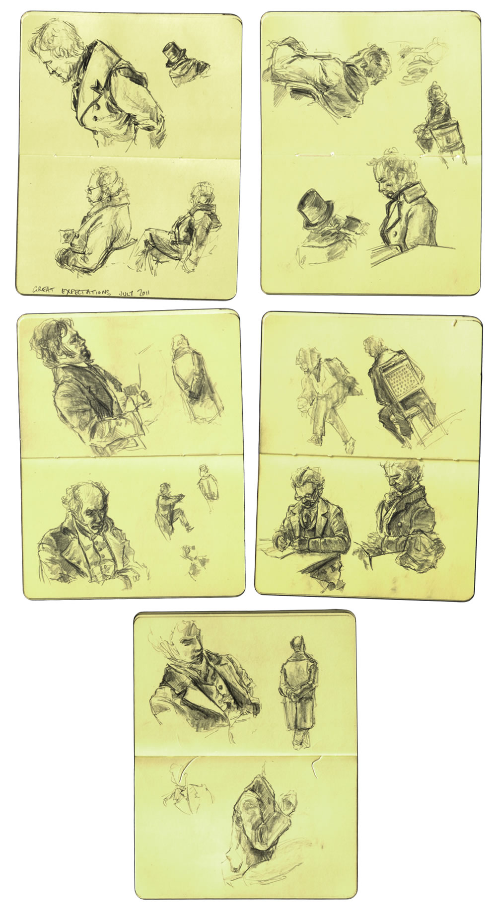 Selection of sketches done whilst on set of the BBCs 2011 production of Great Expectations.