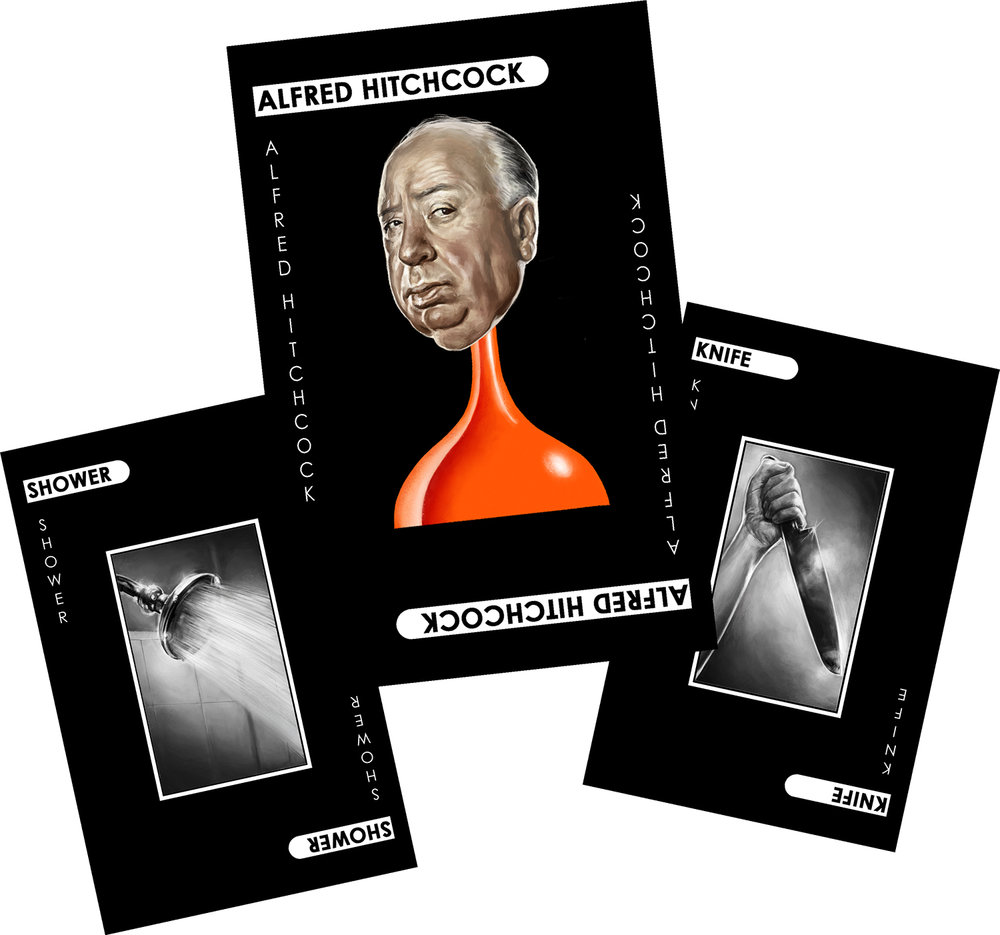 Alfred Hitchcock Murder Cards