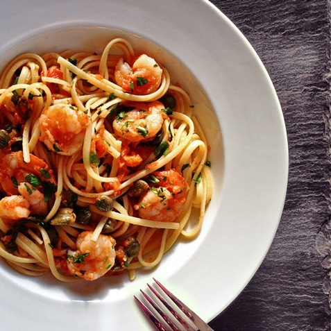 Spicy Shrimp Linguine