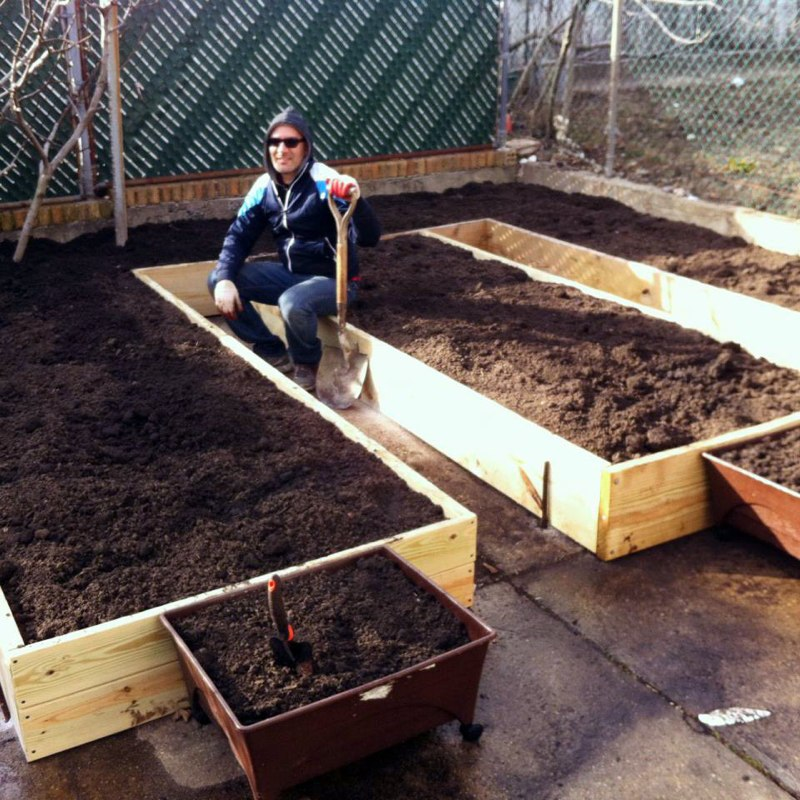 Garden beds are ready