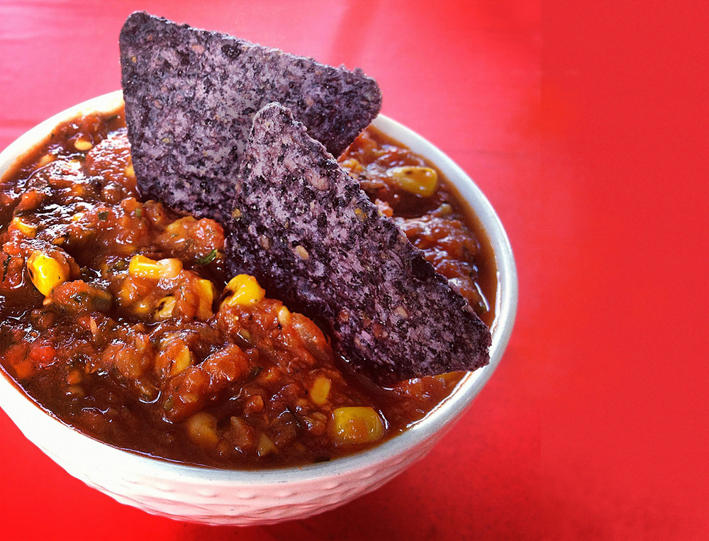 Spicy Salsa with Roasted Sweet Corn. © City Saucery