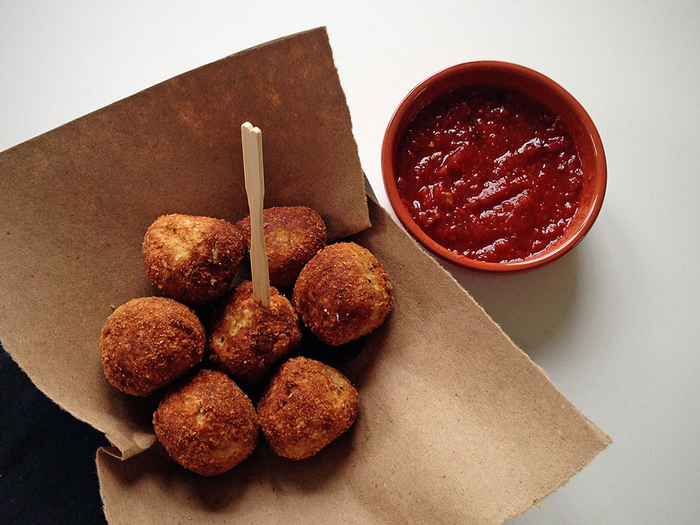 Cheesy Ricotta Balls. © City Saucery