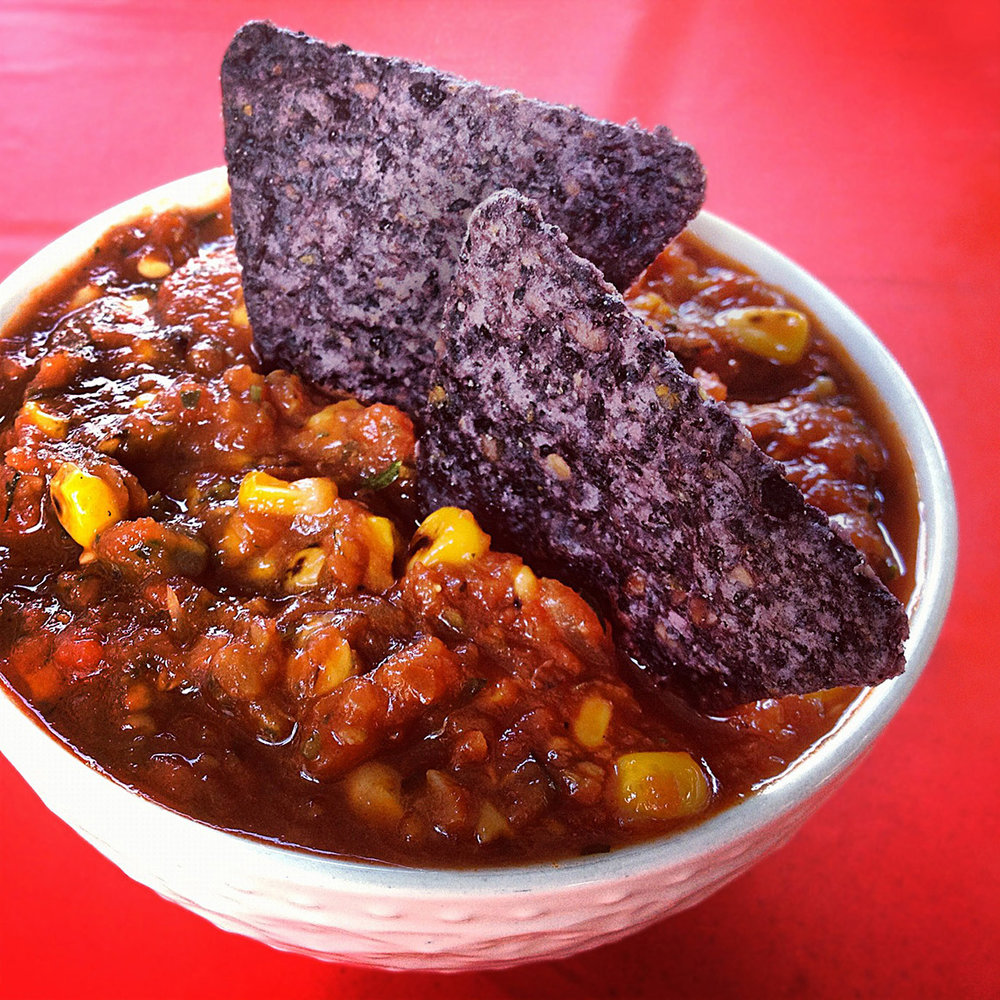 Spicy Salsa with Roasted Sweet Corn