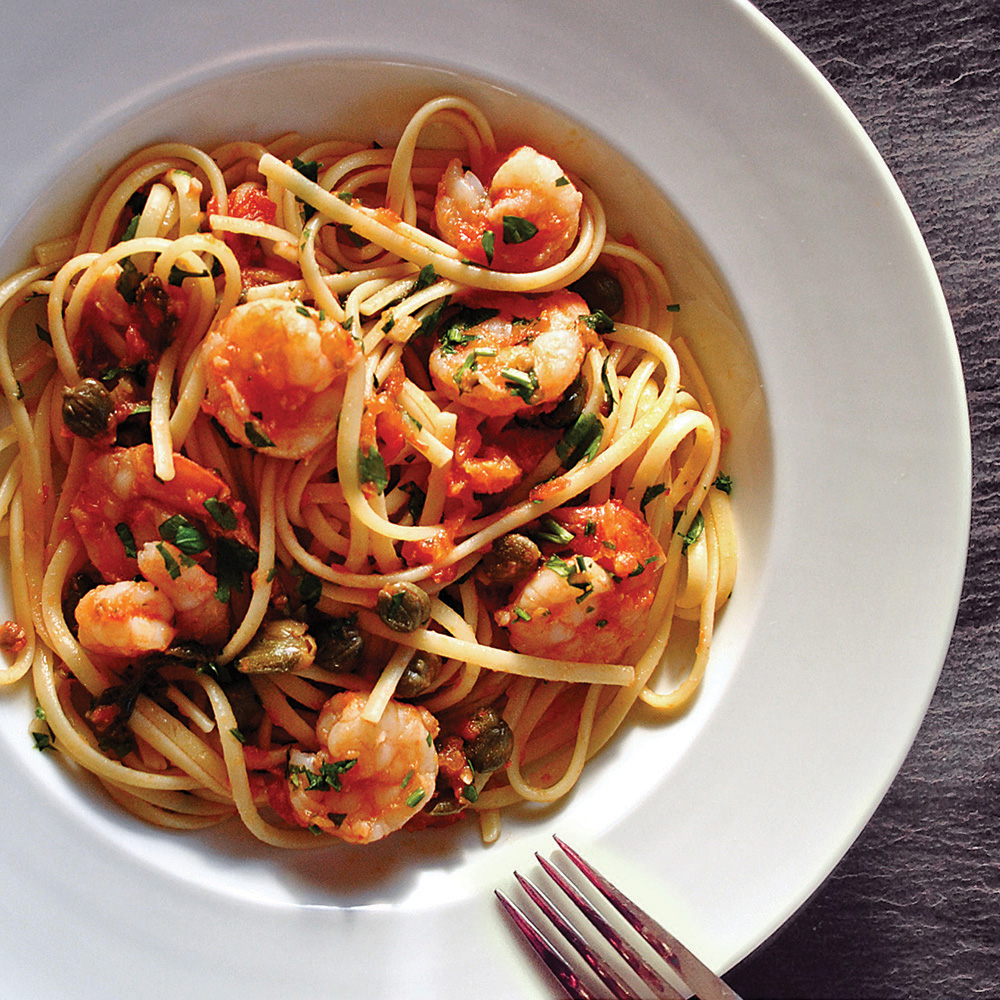 Nonna's Spicy Shrimp Linguine