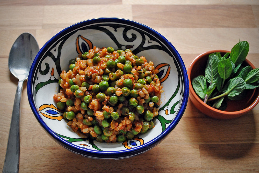 Sweet Fresh Minted Peas & Farro