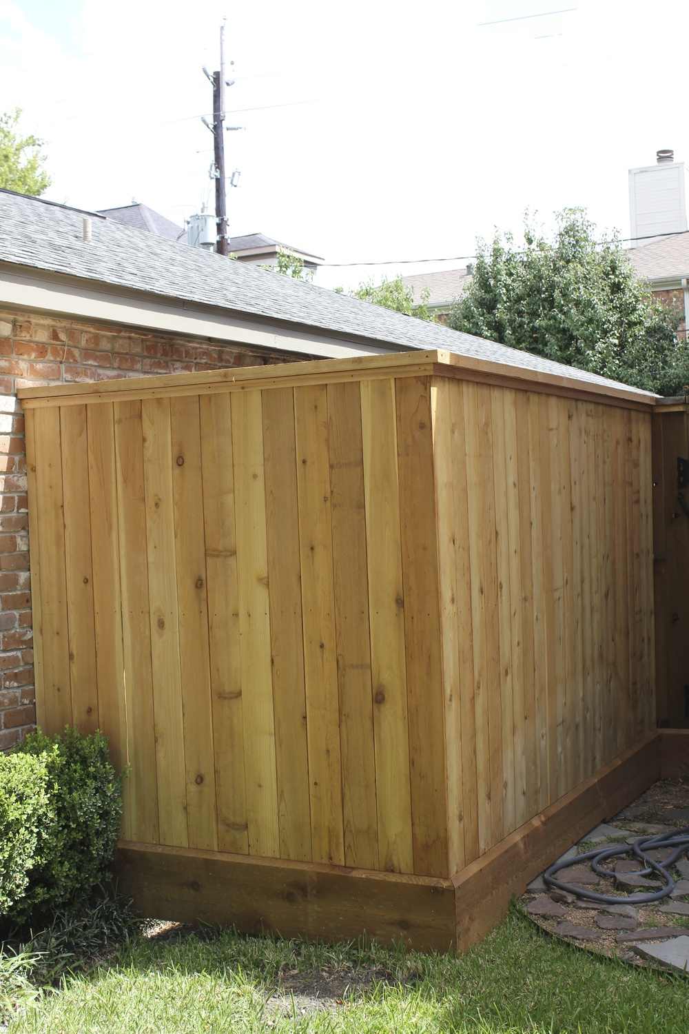 New Fence to cover ac unit in Houston, TX