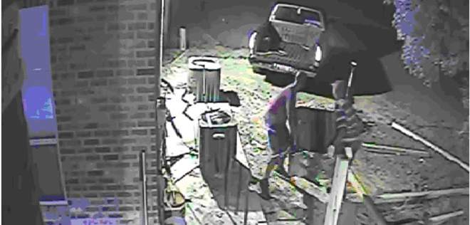 Air Conditioner Theft from church caught on camera