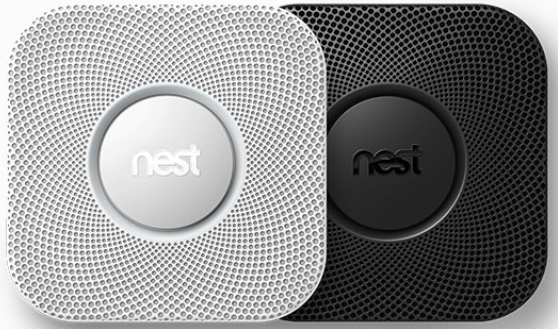 color options for nest protect smoke detector - black and white
