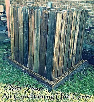 hide A/C unit fence