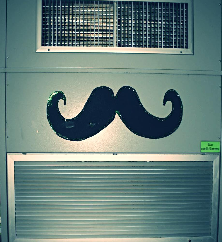 air conditioner with mustache