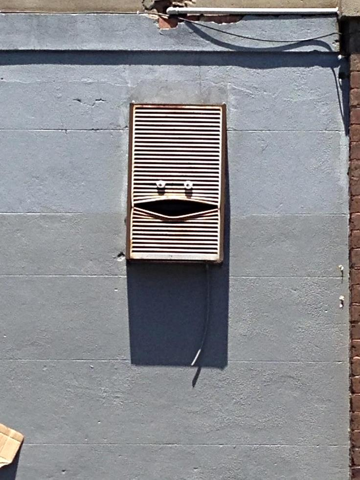 ac unit as art face