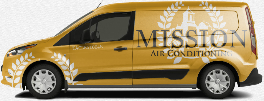 Mission Air Conditioning gold vehicle ford transit design
