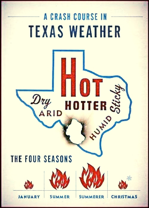 texas map of weather heat
