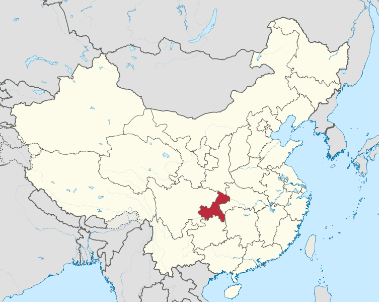 map of chonqing china