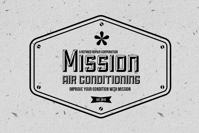 Mission Air Conditioning Houston Vintage Logo