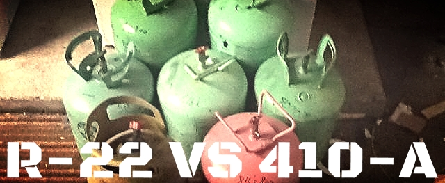 Freon Jugs 410A vs R22