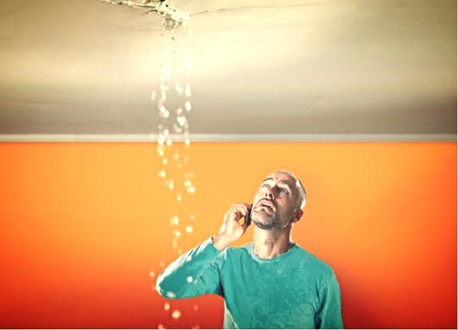 water leaking through ceiling