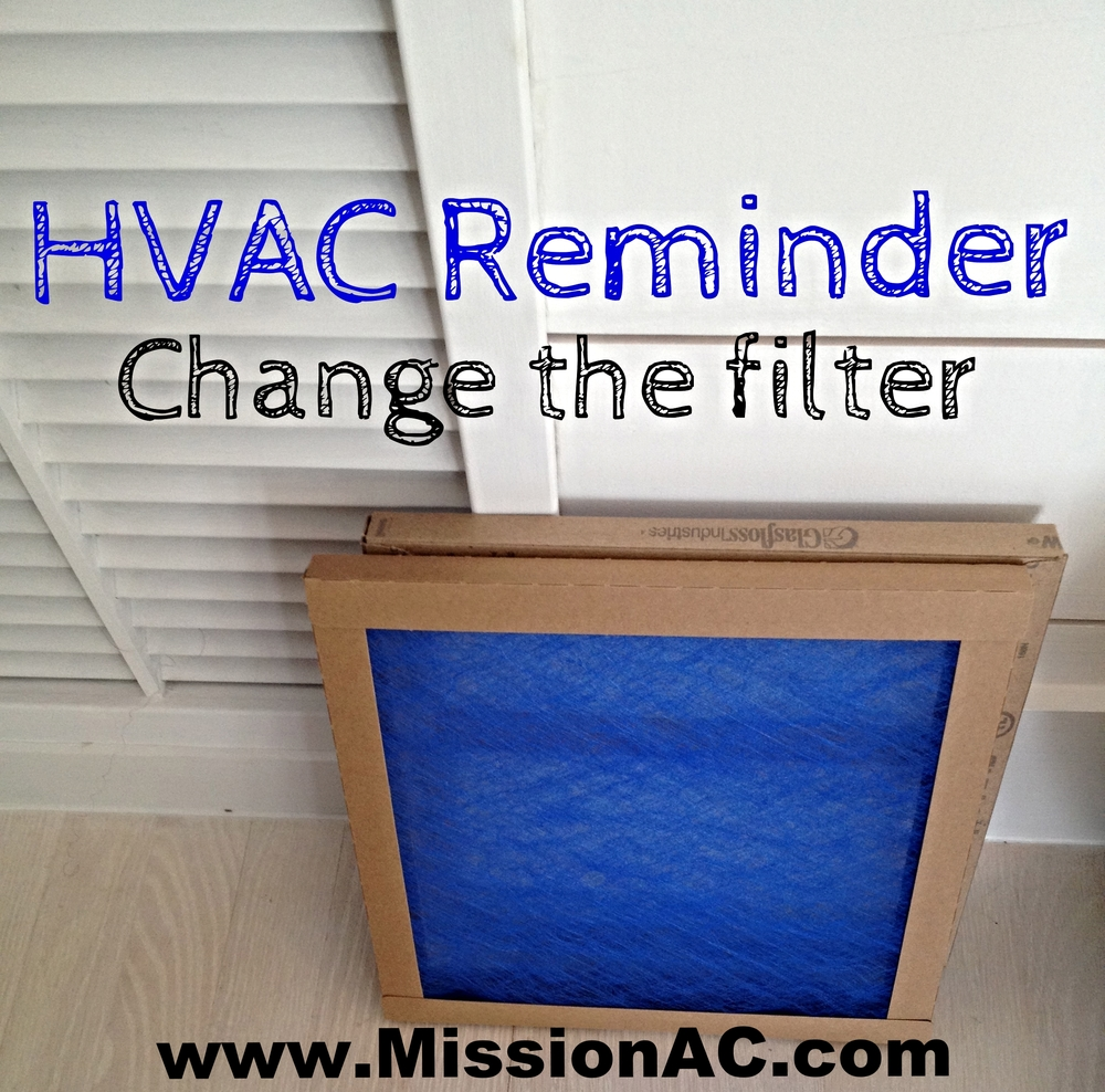Hvac Advice Change Your Filters Monthly