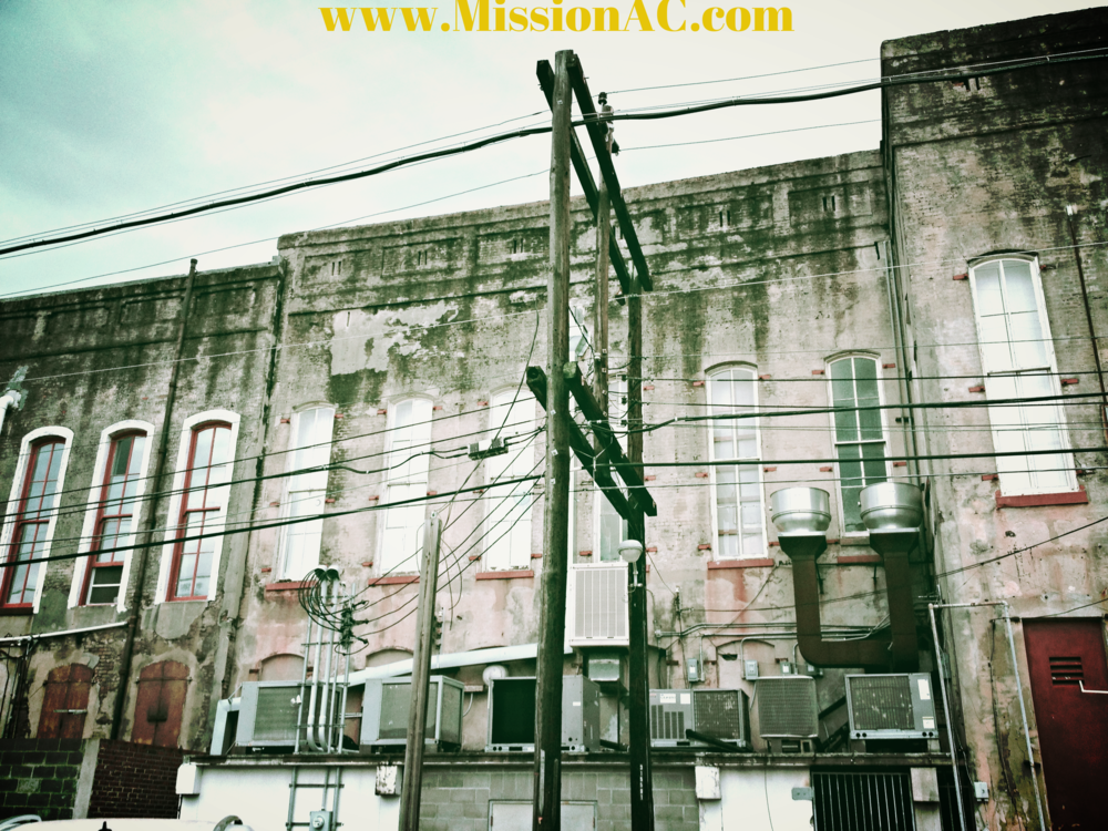 galveston air conditioning on old building