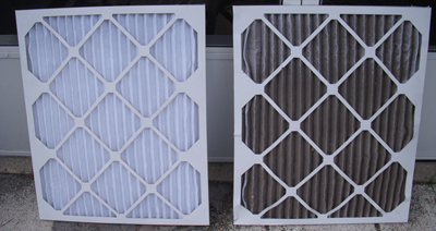 dirty and clean filter hvac