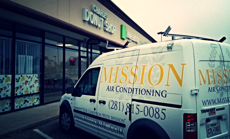 Mission Air Conditioning in Oak forest at Charles Donut shop