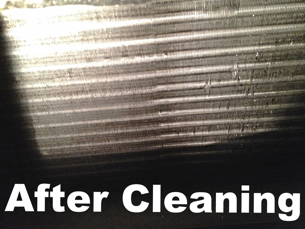 after evaporator coil cleaning on a/c system