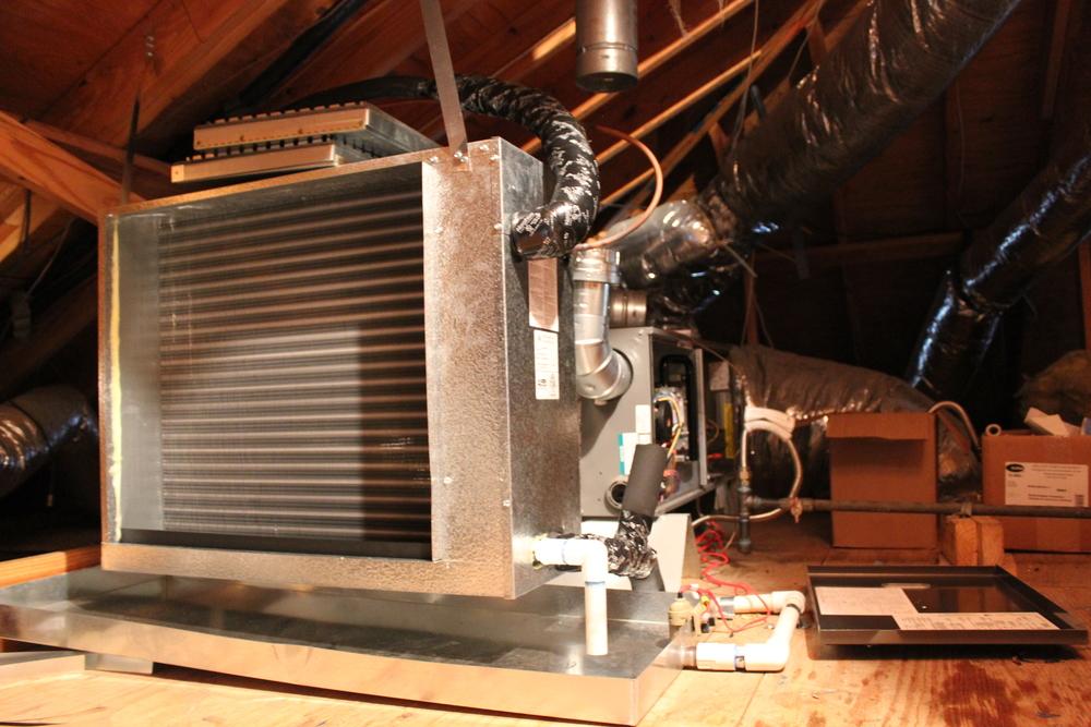 Ruud HVAC installation in process