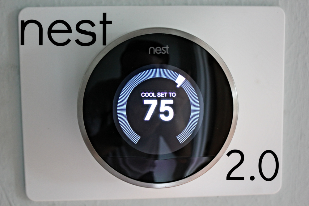 Nest Thermostat in Houston Heights Home