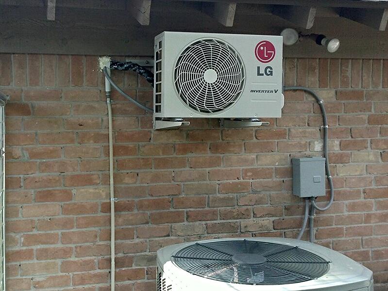 LG Minisplit installed in Houston Garage