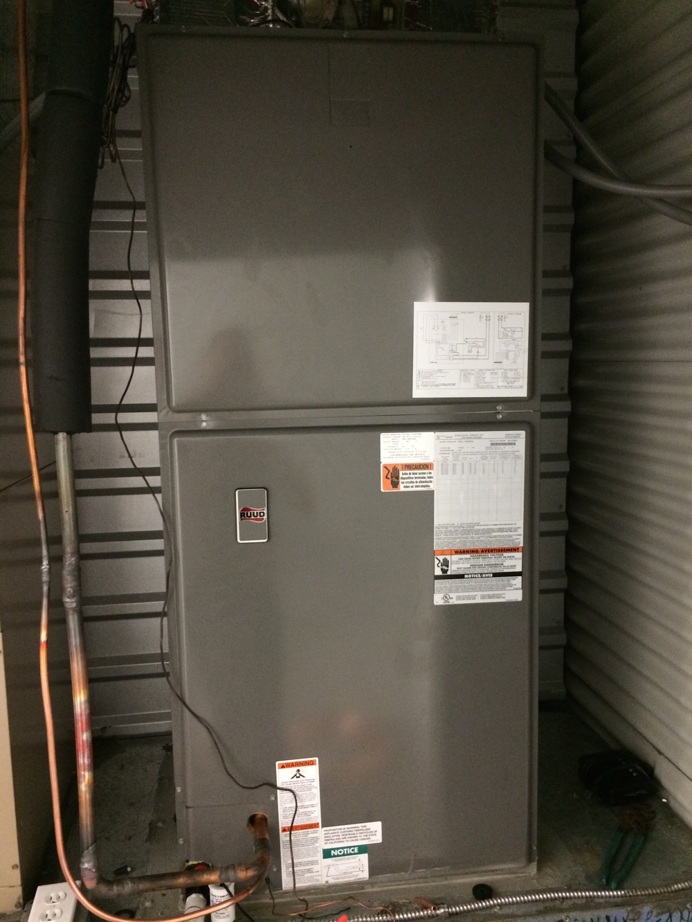 New Ruud electric air handler houston
