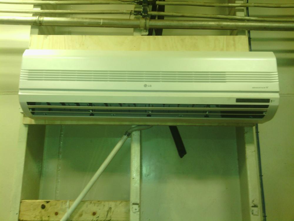 Installation of 30,000 BTU Ductless LG minisplit