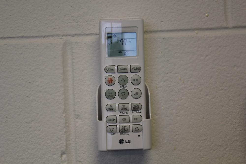 LG mini split remote mounted