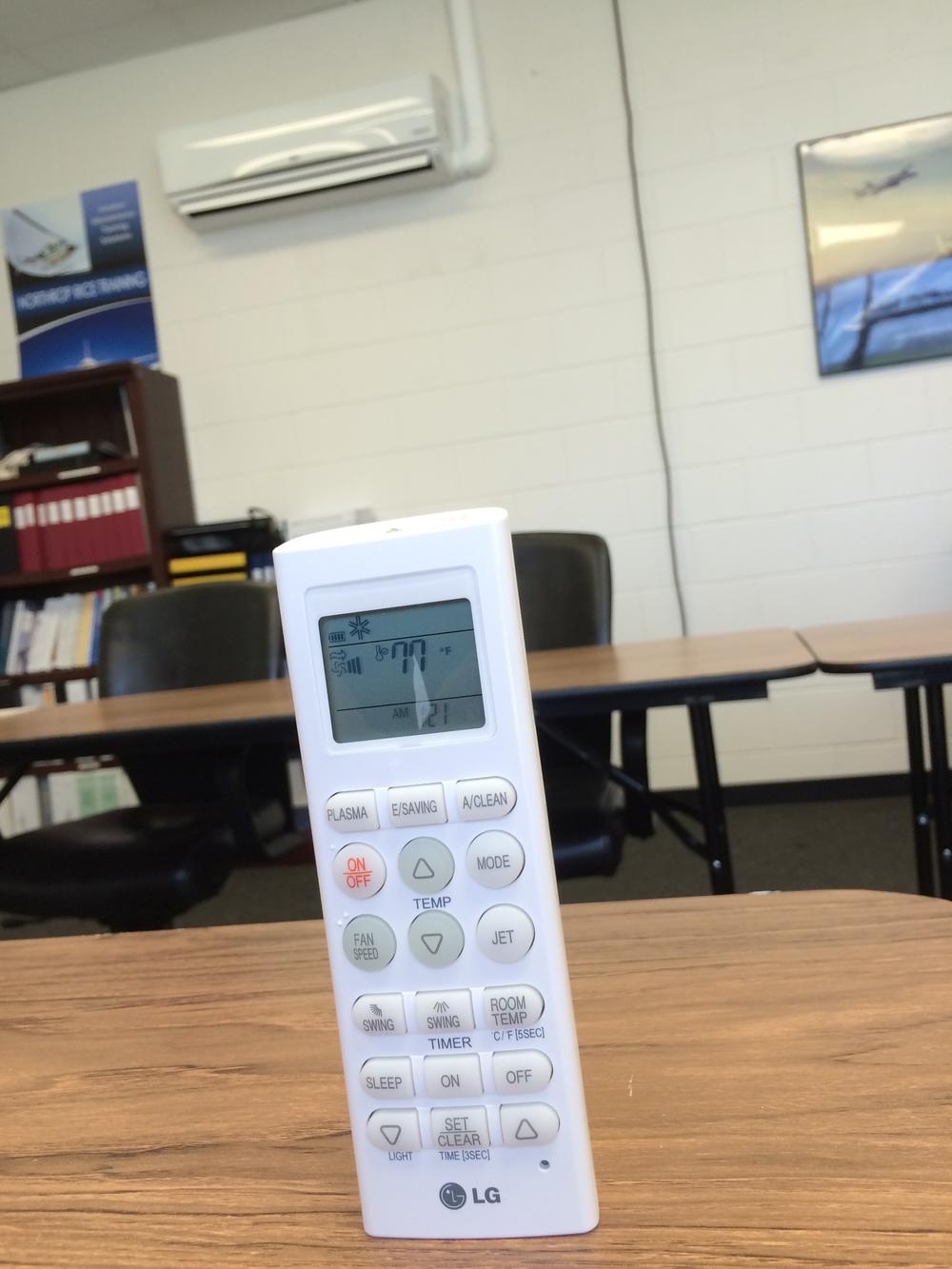 LG mini split remote