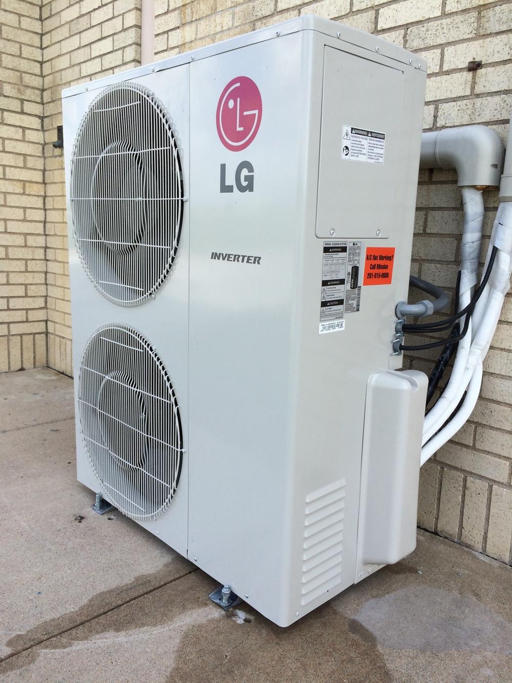 LG 3 ton mini split multi port ductless