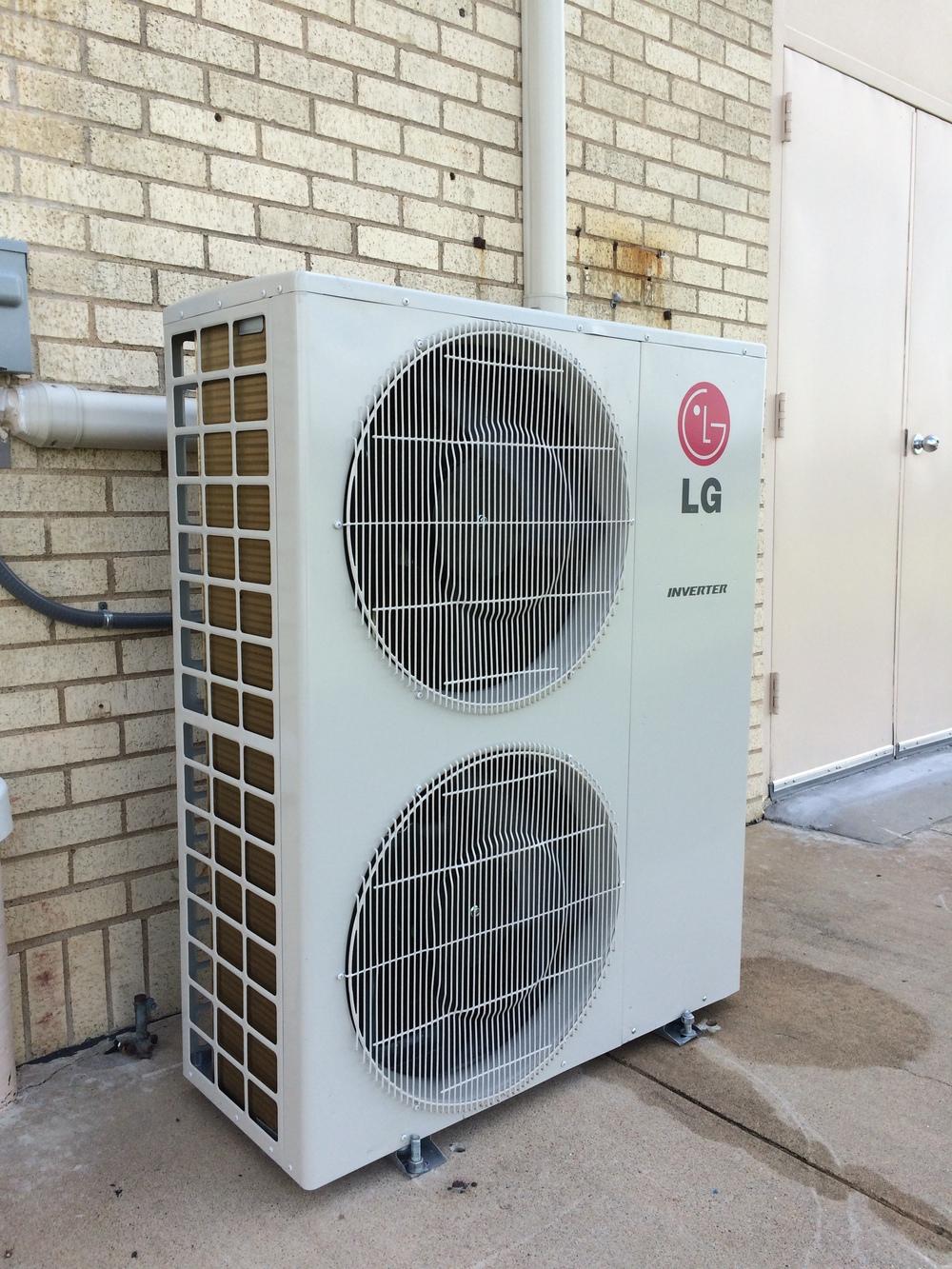 LG 3 ton mini split multi port ductless Houston TX Condenser