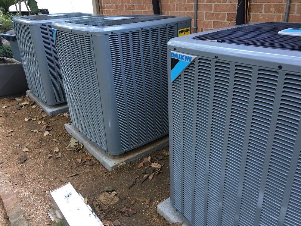 condensers during installation