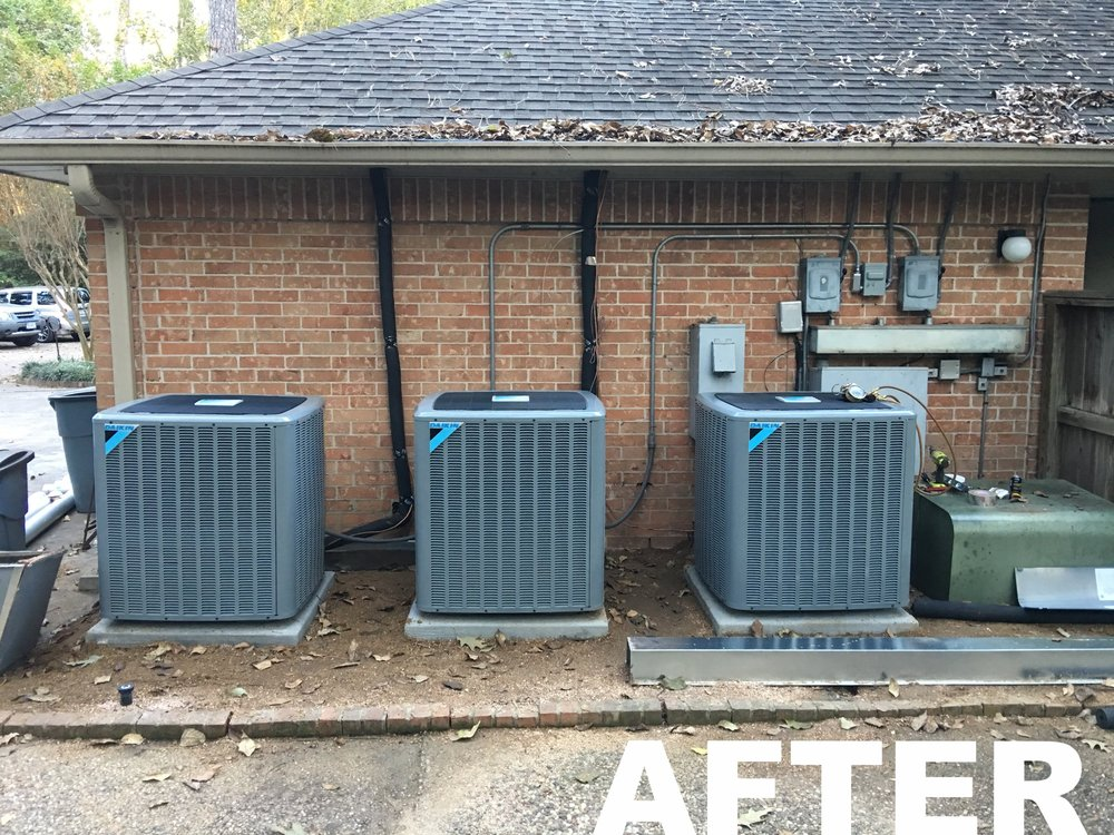 three DX18TC daikin condensers during installation