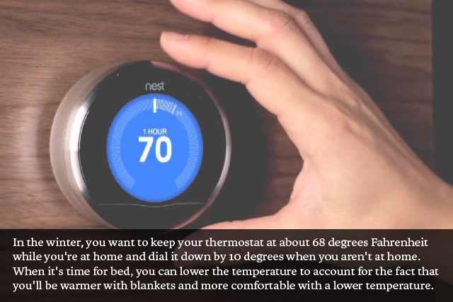 The key to winter comfort is knowing the proper setting for your thermostat. In the winter you want to keep your thermostat at about 68 degrees Fahrenheit ... & Ways to Keep Your Home\u0027s Heat Comfortable in the Winter