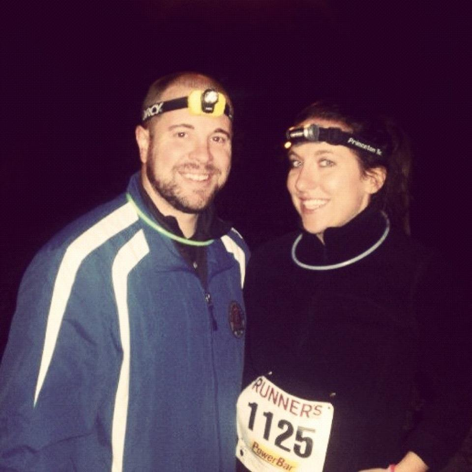 Our founders Art (left) and Liz (right) at the 2011 Ghouls & Fools Nighttime Trail Run in Reading, PA.